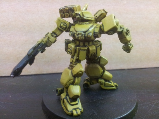 """Sidewinder #2 basecoat done and now awaits first layer of Camo """"striping."""""""